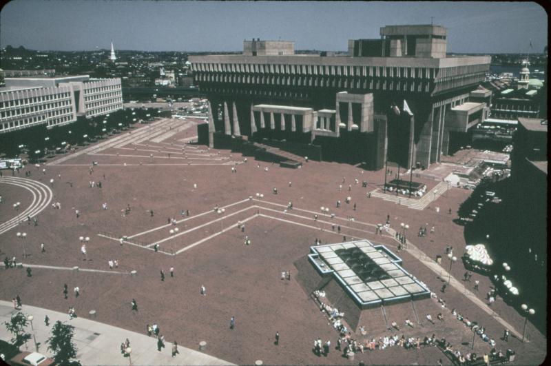 City Hall Plaza in Boston in 1973.