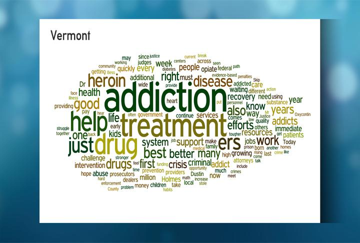A word cloud for Vermont Gov. Pete Shumlin's State of the State address.