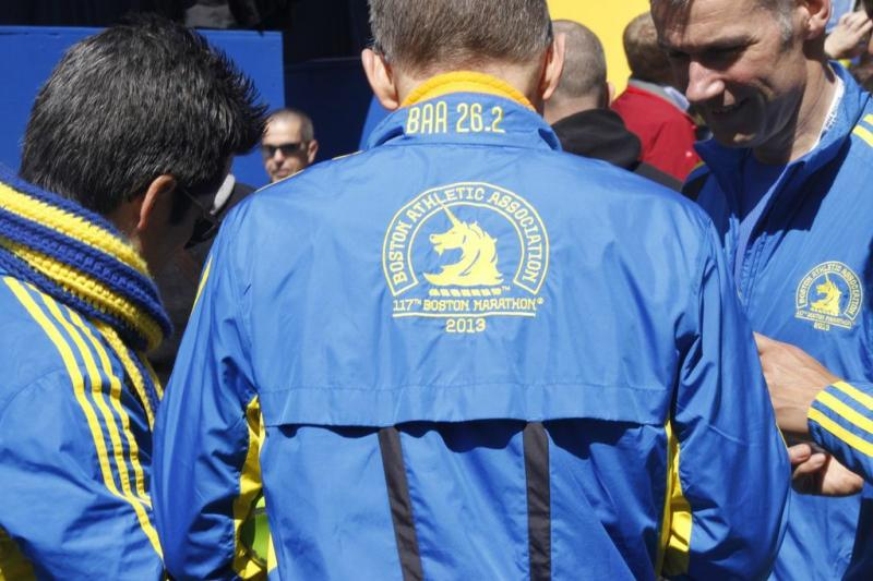 Runners proudly donned 118th annual jackets