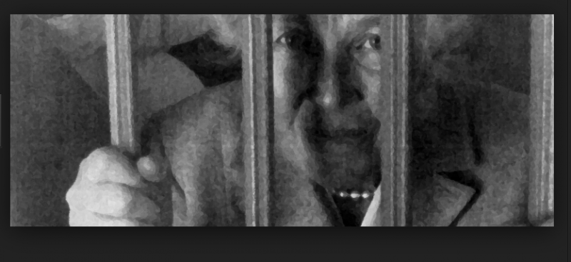 Esther Burgess behind bars