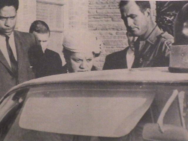Mary Peabody being arrested