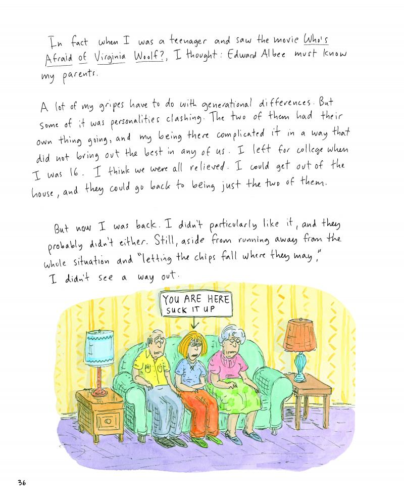 Chast drew off the inherent humor in her experiences with her elderly parents.