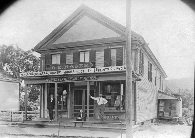 The Otis Hager store in North Dana served as both a general store and the town's post office.