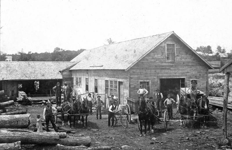 Businesses in the Swift River Valley included mills, general stores, grain stores and small hotels. This large sawmill in Enfield was one of a few in the area.