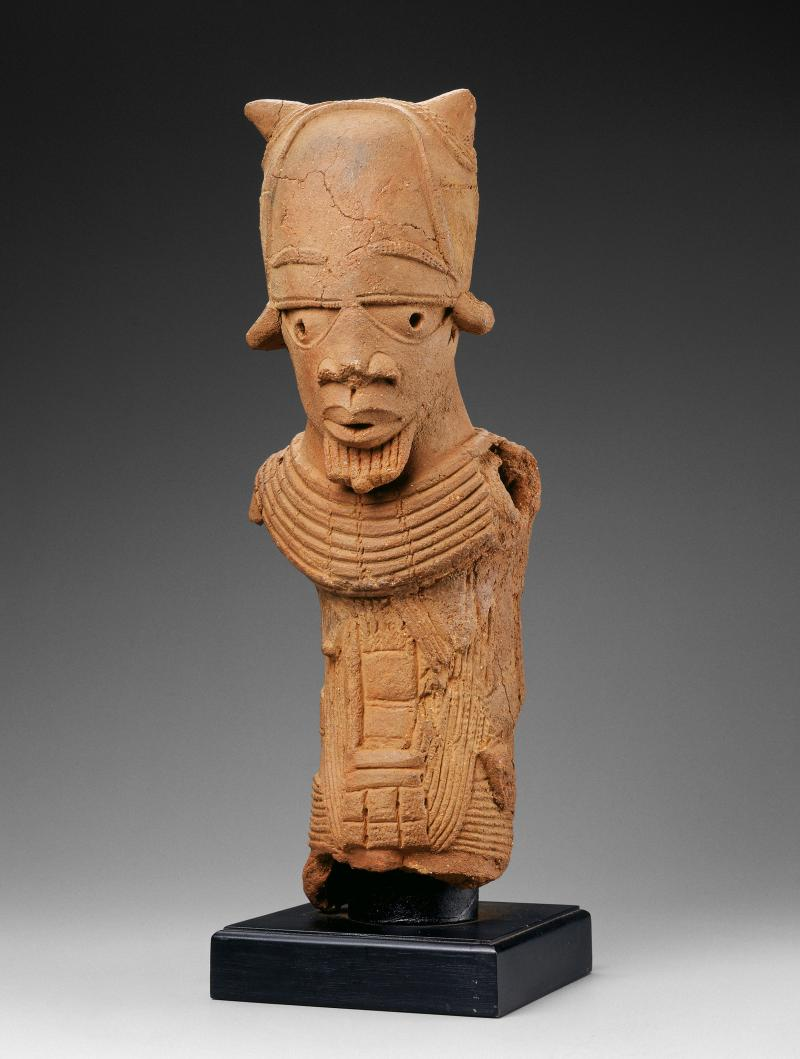 Male Figure, Nok peoples; African; Nok peoples; Nigeria; about 500 BC-200 AD; ceramic, terracotta