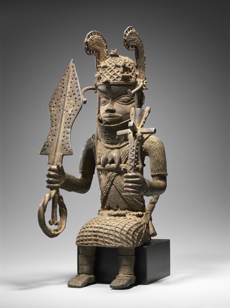 Altar figure; Benin peoples; Nigeria; brass