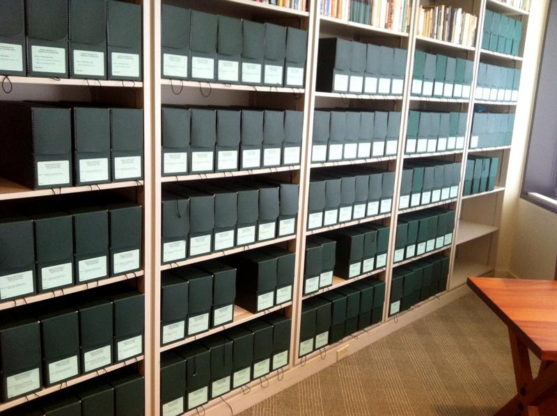 The collection of Hemingway's writings. In these folders are handwritten manuscripts, drafts of his writings, medical records, outgoing and incoming letters and more.