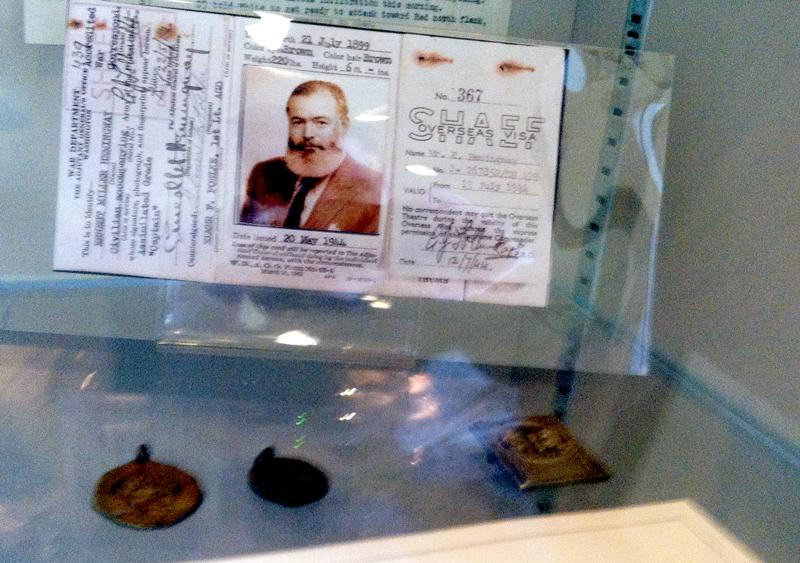 One of Hemingway's visas.