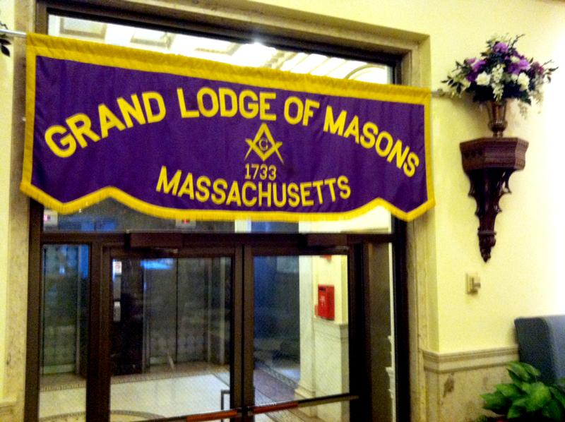 The entrance to the Grand Lodge.