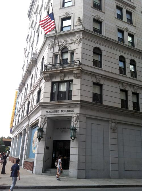 The Massachuestts Grand Lodge of Masons on Boylston and Tremont streets in Boston