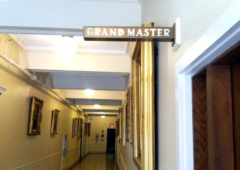 Oil painting of each Massachusetts Grandmaster line the hallways throughout the Massachusetts Grand Lodge