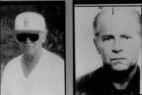 Two FBI handout photos of mobster James Whitey Bulger taken in the 1980s.