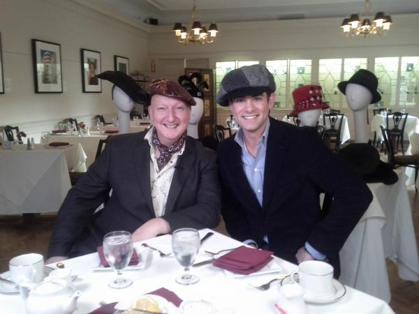 WGBH's Jared Bowen with milliner Stephen Jones.