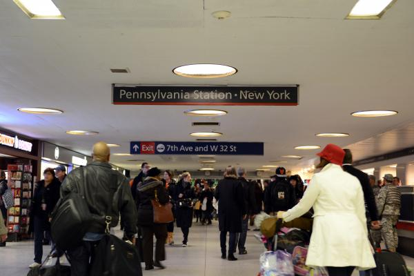 Penn Station in New York.