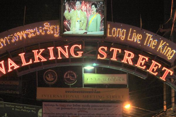 The famous walking street in Pattaya where tourists worldwide solicit for sex.
