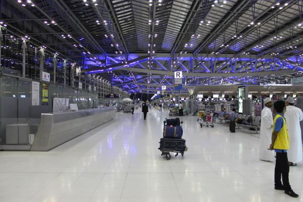 The airport in Bangkok.