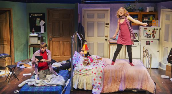 Phil Tayler and Erica Spyres in The New Repertory Theatre production of Marry Me a Little.