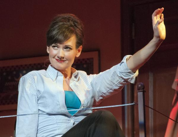 Aimee Doherty in The New Repertory Theatre production of Marry Me a Little — a treat for Sondheim fans.