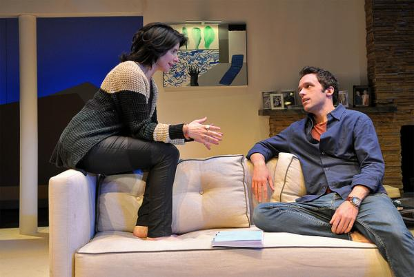 Anne Gottlieb and Christopher M. Smith in a scene from SpeakEasy Stage's production of Other Desert Cities.