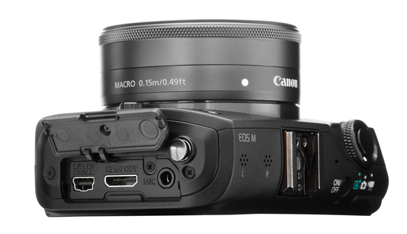 The Canon EOS M — a touchscreen camera with a lens that packs a punch.