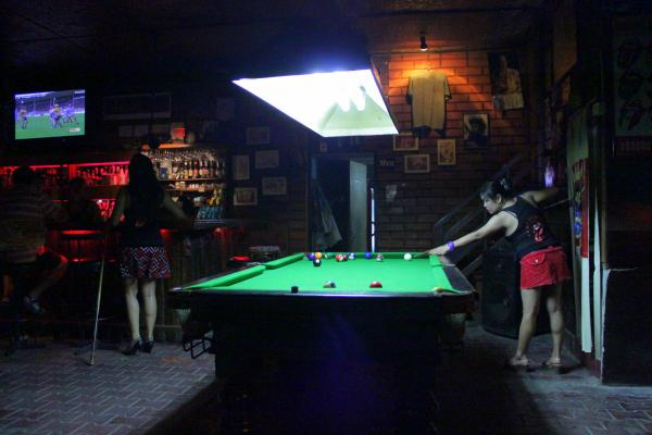 A bar in Chiang Mai