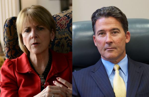 Mass. Attorney General Martha Coakley and State Sen. Mark Montigny