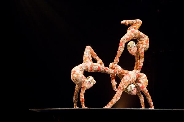 Cirque du Soleil's innovation comes from their search for new material.