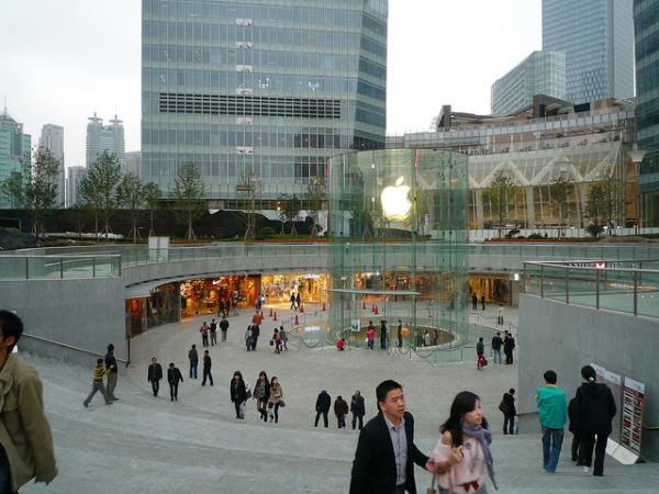 This Apple store is real — but a fake one might not look too different.