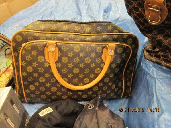 This counterfeit Louis Vuitton bag was seized by Britain's Border Control.