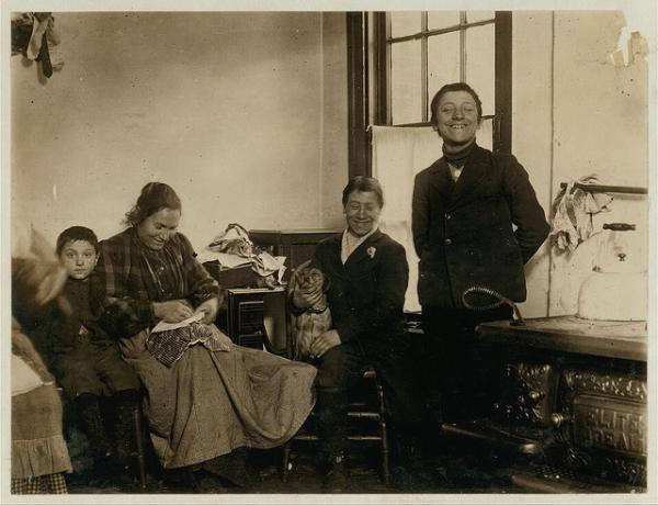 Don't be afraid to share the tough parts of your day with children, says Feiler. Here, the Albernesi family of New York City smiles in this Library of Congress photo from 1910.
