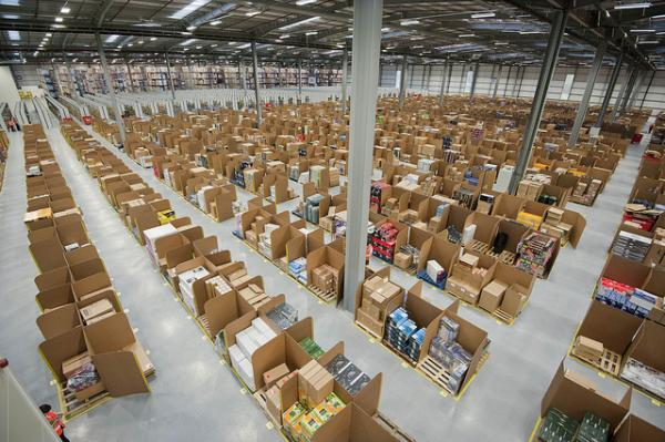Amazon's warehouse in Fife, Scotland. Gregersen ranks Amazon and its CEO, Jeff Bezos, at the top of his list of innovators.