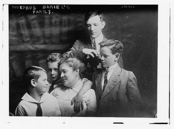 Happy families talk, says Feiler, and not just about the small stuff. A happy family from the early 1900s is shown in this photograph from the Library of Congress.