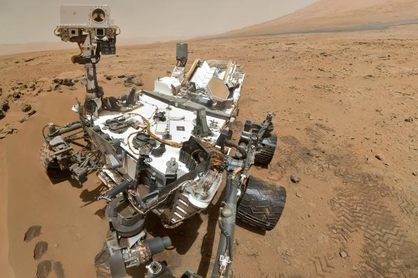 A Curiosity rover selfie. Snapped in Gale Crater on the surface of Mars on October 31, 2012.