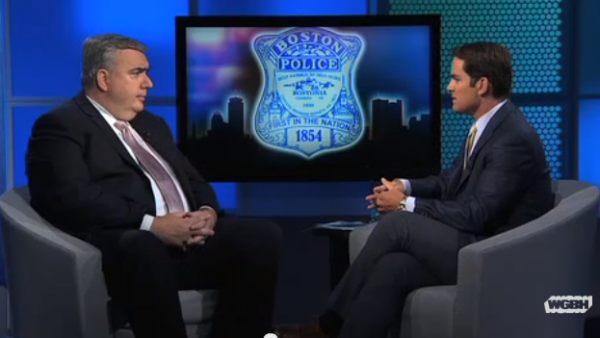 Boston Police Commissioner Ed Davis sat spoke guest host Jared Bowen