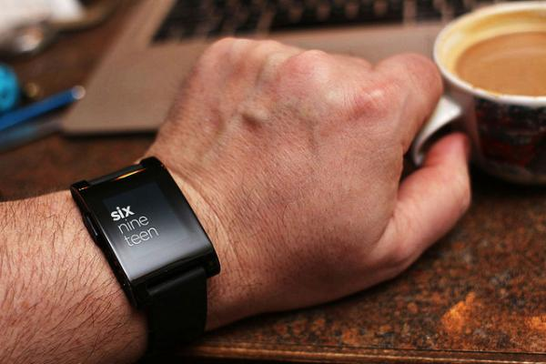 The Pebble E-Paper watch, shown here, is one of the biggest success stories to come out of Kickstarter.