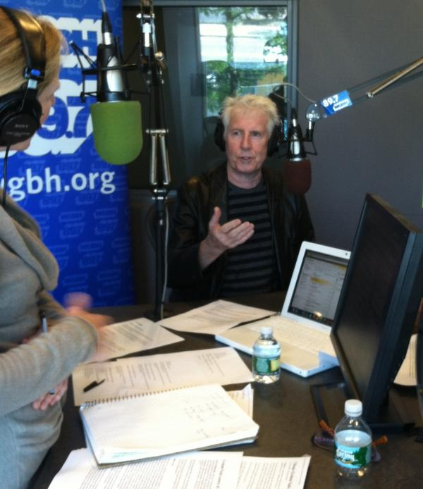 Rocker Graham Nash talks with Boston Public Radio hosts Jim Braude and Margery Eagan on September 17, 2013.