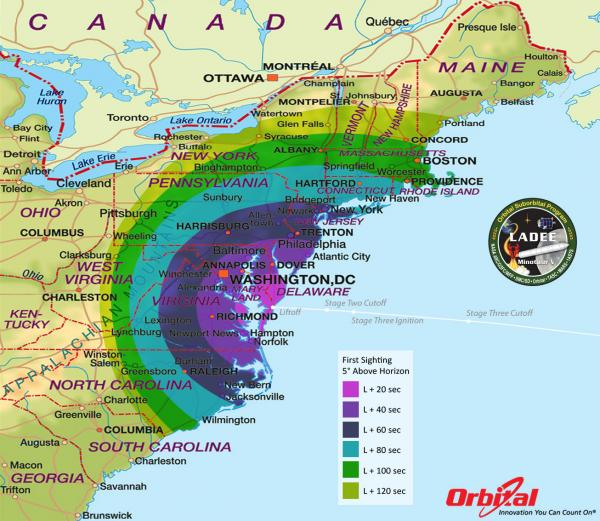Weather permitting, LADEE will launch from Eastern Virginia at 11:27PM on September 6. It will be viewable from Southern New England.