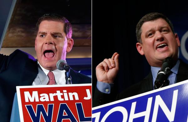 State Rep. Marty Walsh and City Councilor John Connolly, winners of the Boston mayoral preliminary election.