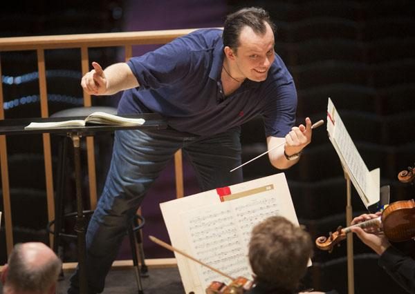 Andris Nelsons leads the BSO in his first rehearsal with them since being appointed Music Director Designate.