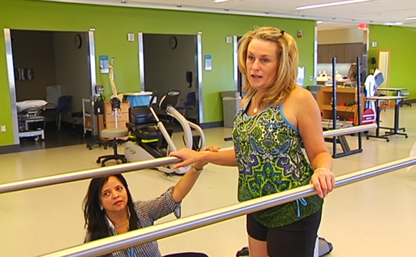 Boston Marathon bombing victim Roseann Sdoia undergoes rehab.