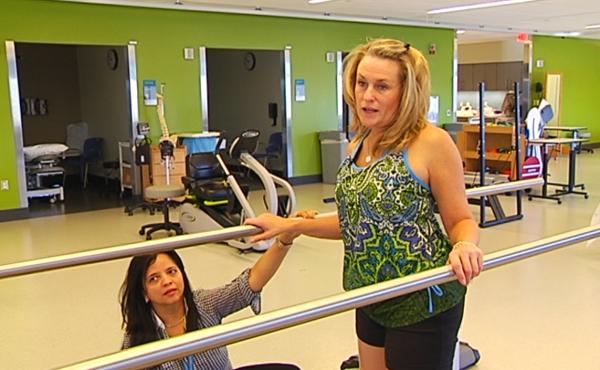 Boston Marathon bombing victim Roseann Sdoia undergoes rehab.