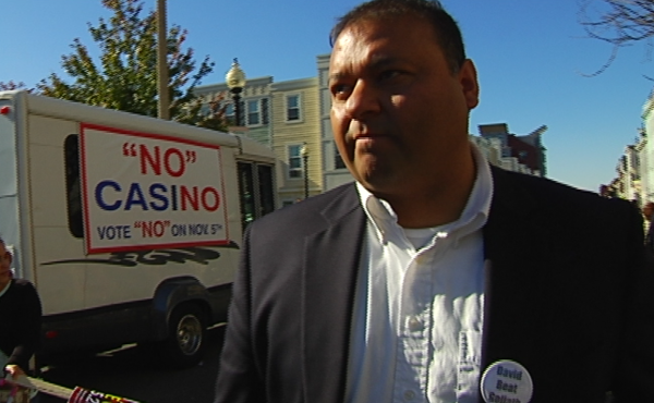 Casino opponent Pedro Morales participated in a rally in East Boston on Sunday.