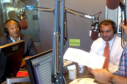 John Barros and Felix Arroyo stopped by the Boston Public Radio studios to talk with hosts Jim Braude and Margery Eagan on Wednesday.