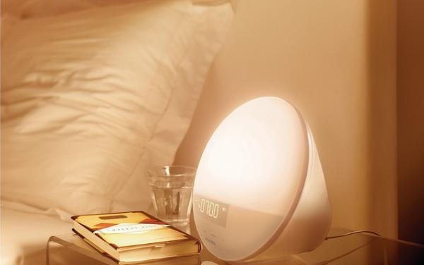 The Philips Wake Up Light gradually wakes you up with a combination of sound and light therapy.