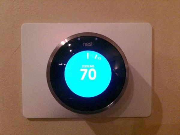 The Nest thermostat is simple to use and learns your behavior and preferences over time.