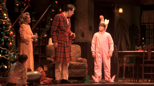 "A scene from ""A Christmas Story,"" now playing at the Wang Theatre."