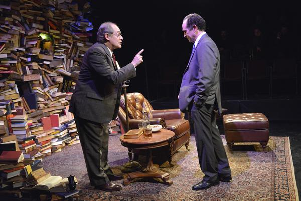 Joel Colodner as Solomon Galkin and Jeremiah Kissel as Bernard Madoff