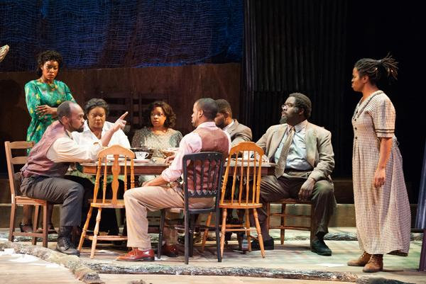 Crystin Gilmore, Maurice Emmanuel Parent, Valerie Houston, Anich D'Jae, Jared Dixon, David Jiles, Jr., Cliff Odle, and Lovely Hoffman in The Color Purple.
