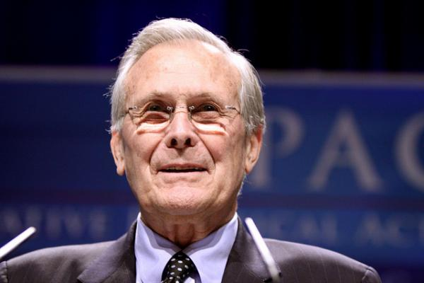 Former US Sec. of Defense Donald Rumsfeld is the subject of a new Errol Morris documentary. Boston Globe columnist Alex Beam told Jim Braude and Margery Eagan about his distaste for the documentary.