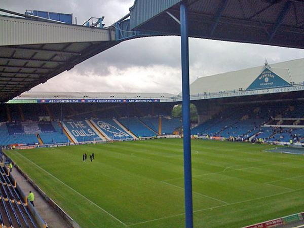 The Hillsborough Stadium, site of the 1988-89 FA Cup Semifinal between the Liverpool F.C. and Nottingham Forest clubs in April 1989. Ninety-six people were crushed to death that day.